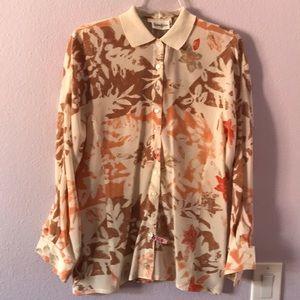 Multicolored Escada for Neiman Marcus silk blouse
